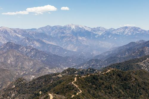 Fire break line, from last year's Mount Wilson fire. If you want a grim story, look that one up. Yikes...