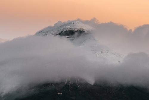 Cotopaxi with a crown of clouds