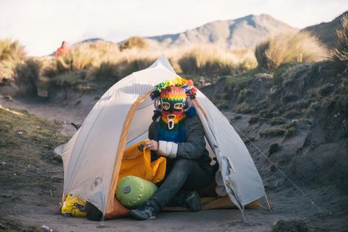 Diablo acampando