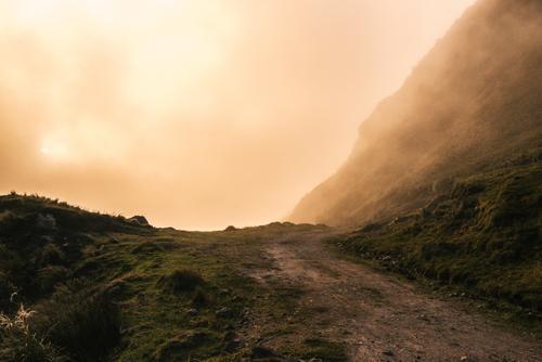 sunset mist