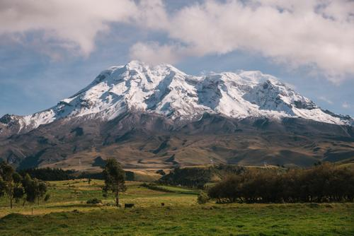 all of Chimborazo breaking through the clouds