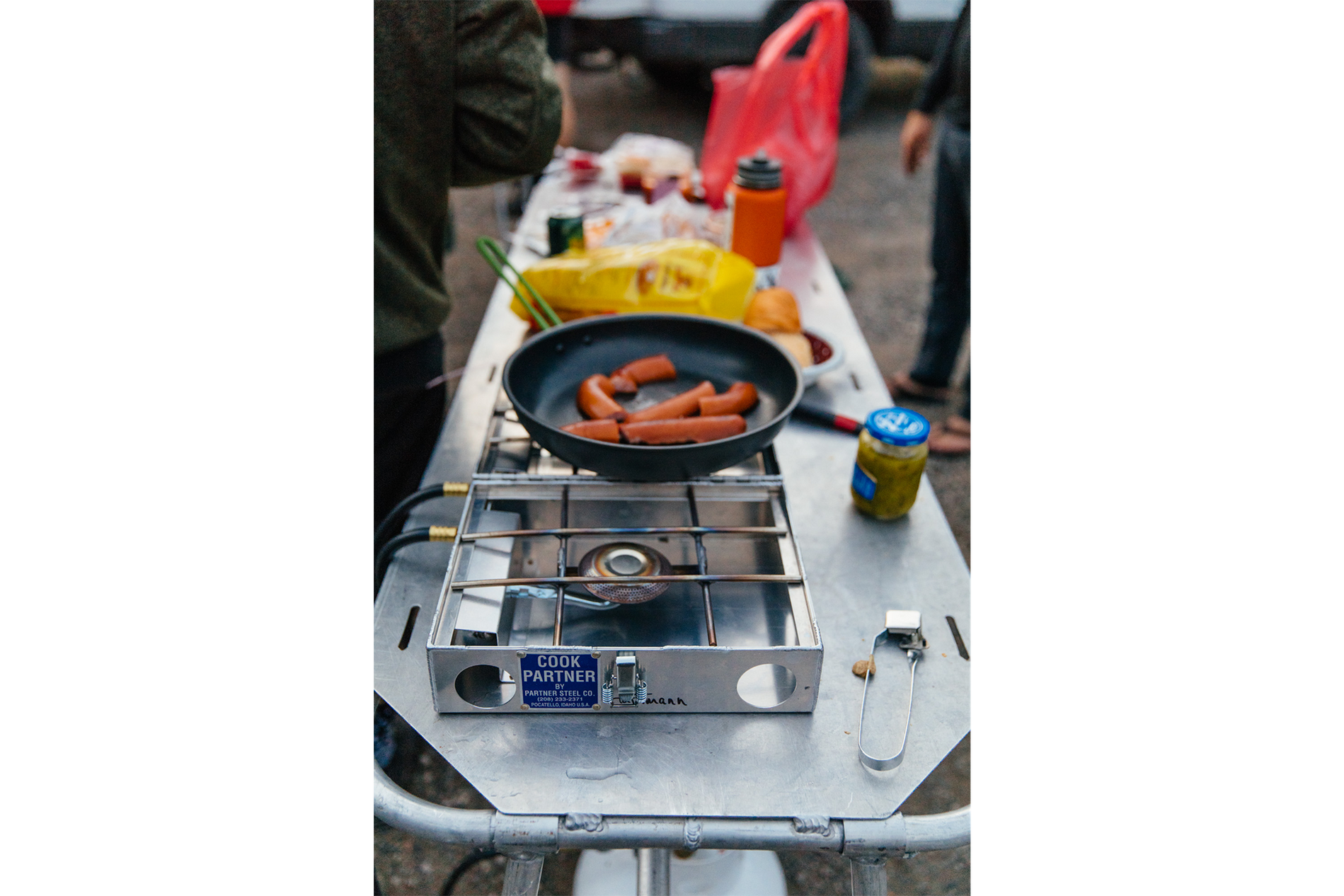 Such a sick setup. The table doubles as a emergency gurney for backcountry rescues.