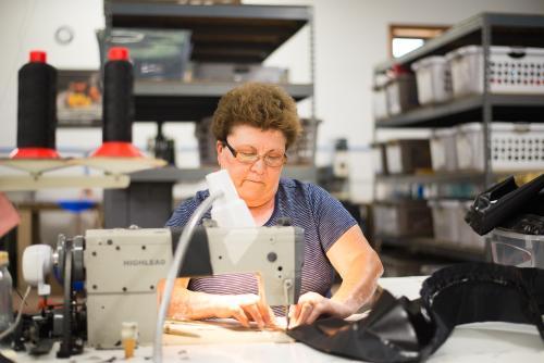 Bertha Sewing