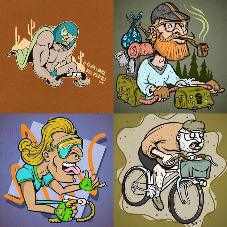 Dustin Fritz's Cycling Archetypal Ilustrations