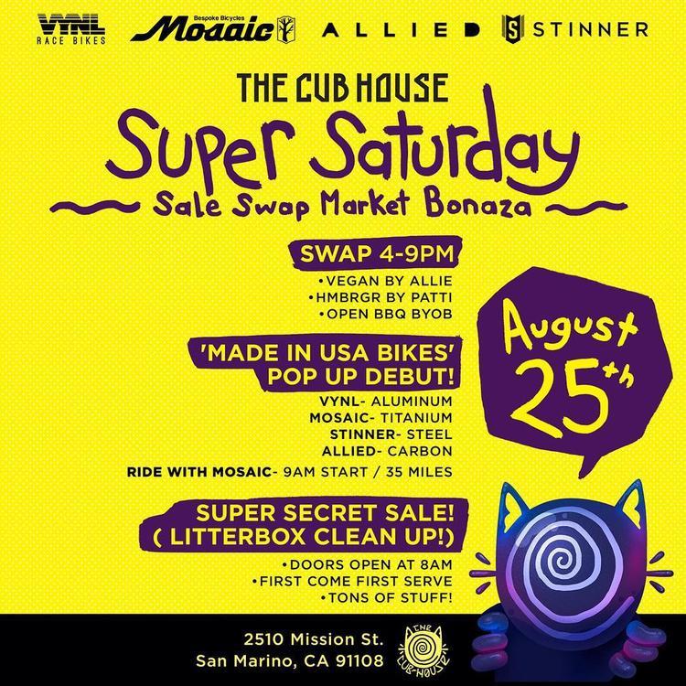 the Cub House Super Saturday Sale Swap Market Bonanza