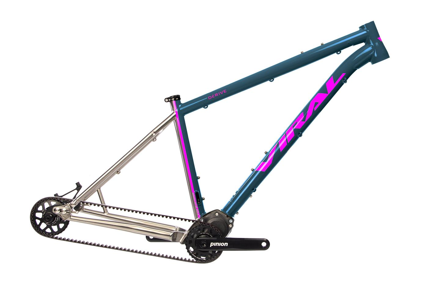 Viral Bikes Launch the Dérive and Skeptic Titanium Hardtails with Pinion Gearbox
