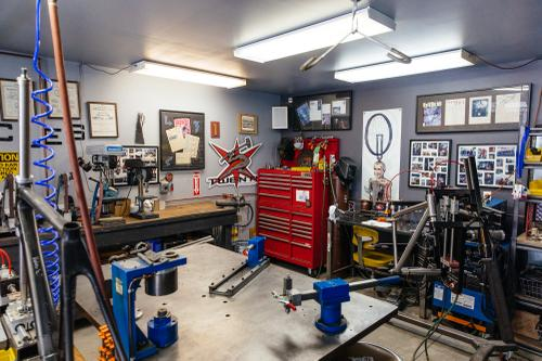 Scenes from the Strong Frames and Pursuit Cycles shop