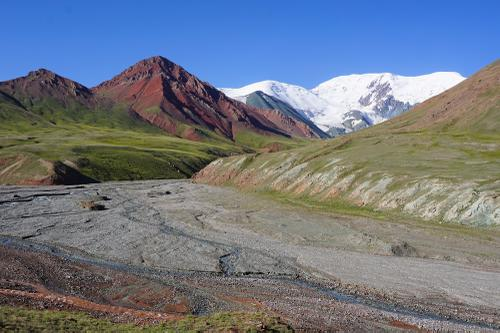 Stunning views in no man's land between Kyrgyzstan and Tajikistan.
