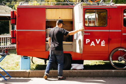 Pavé's German Fire Truck Coffee Wagon!