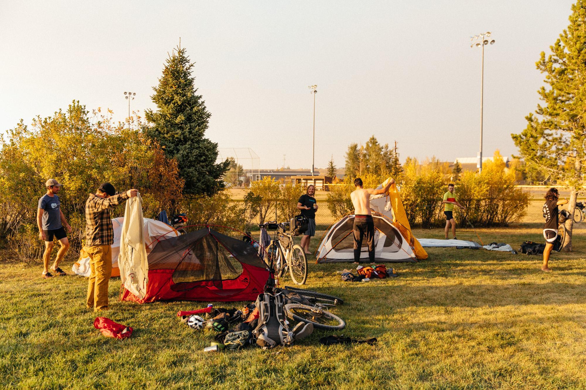 Camp in Walden.