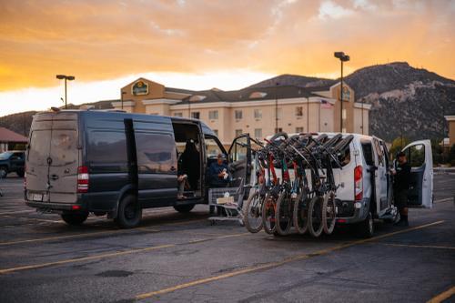 Loaded up the caravan.