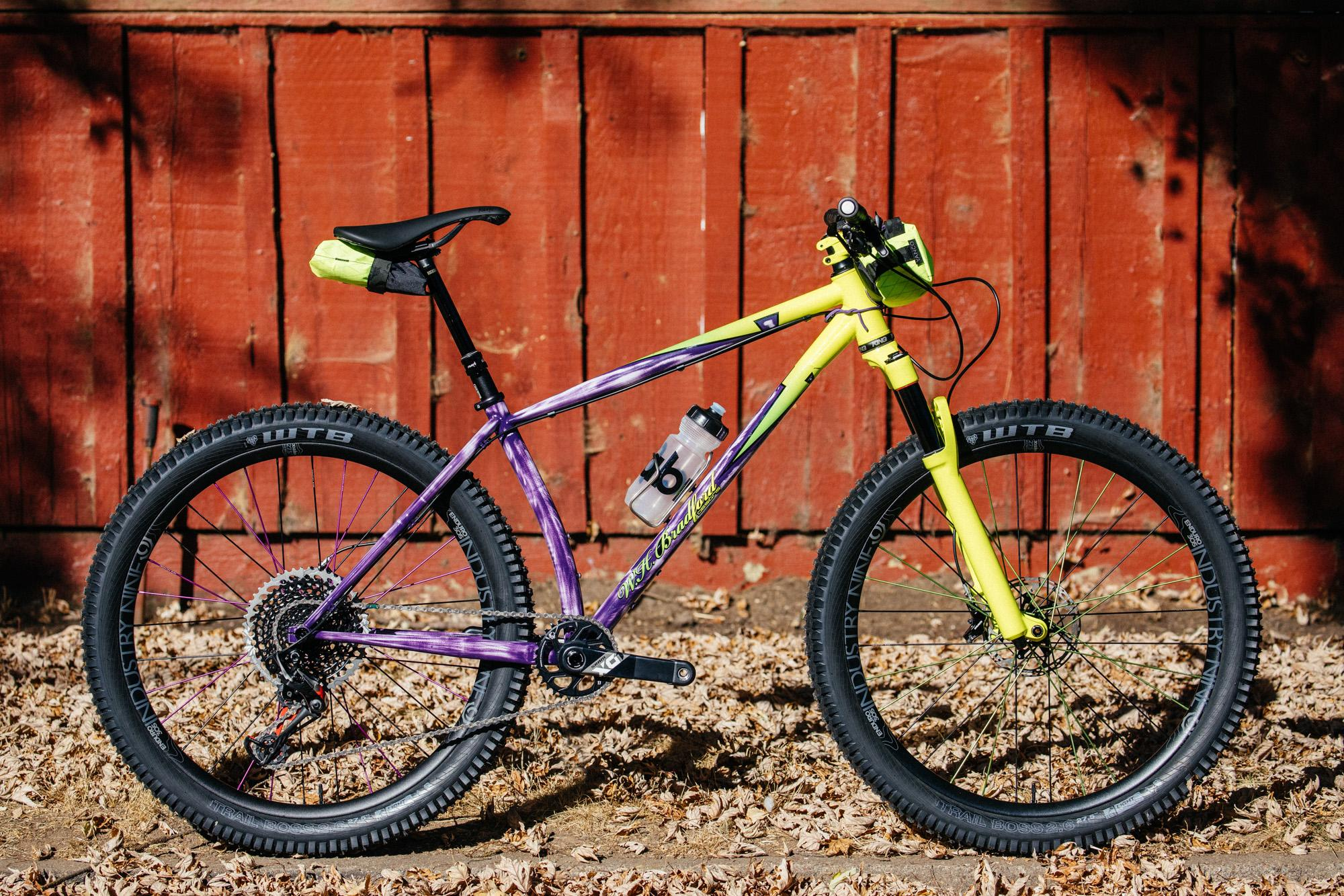 2018 Grinduro: W.H. Bradford Mountain of Radness Fluoro Hardtail