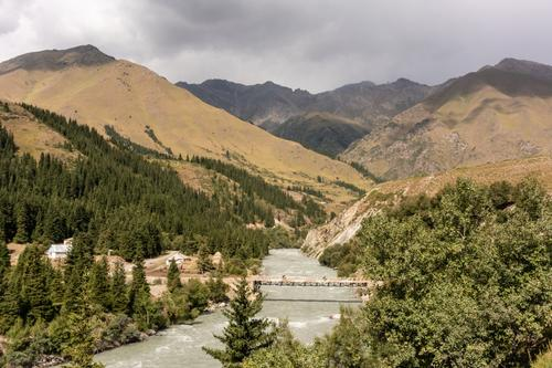 The riding between Naryn and Kockkor is very beautiful, meandering along a fast flowing river