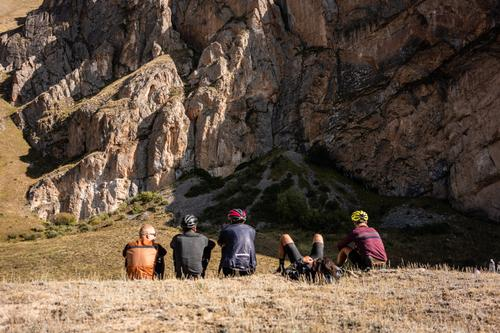 We might not be racing, but Kyrgyzstan doesn't really do 'easy rides' so there were plenty of rest moments to suck up the beauty of what we were doing