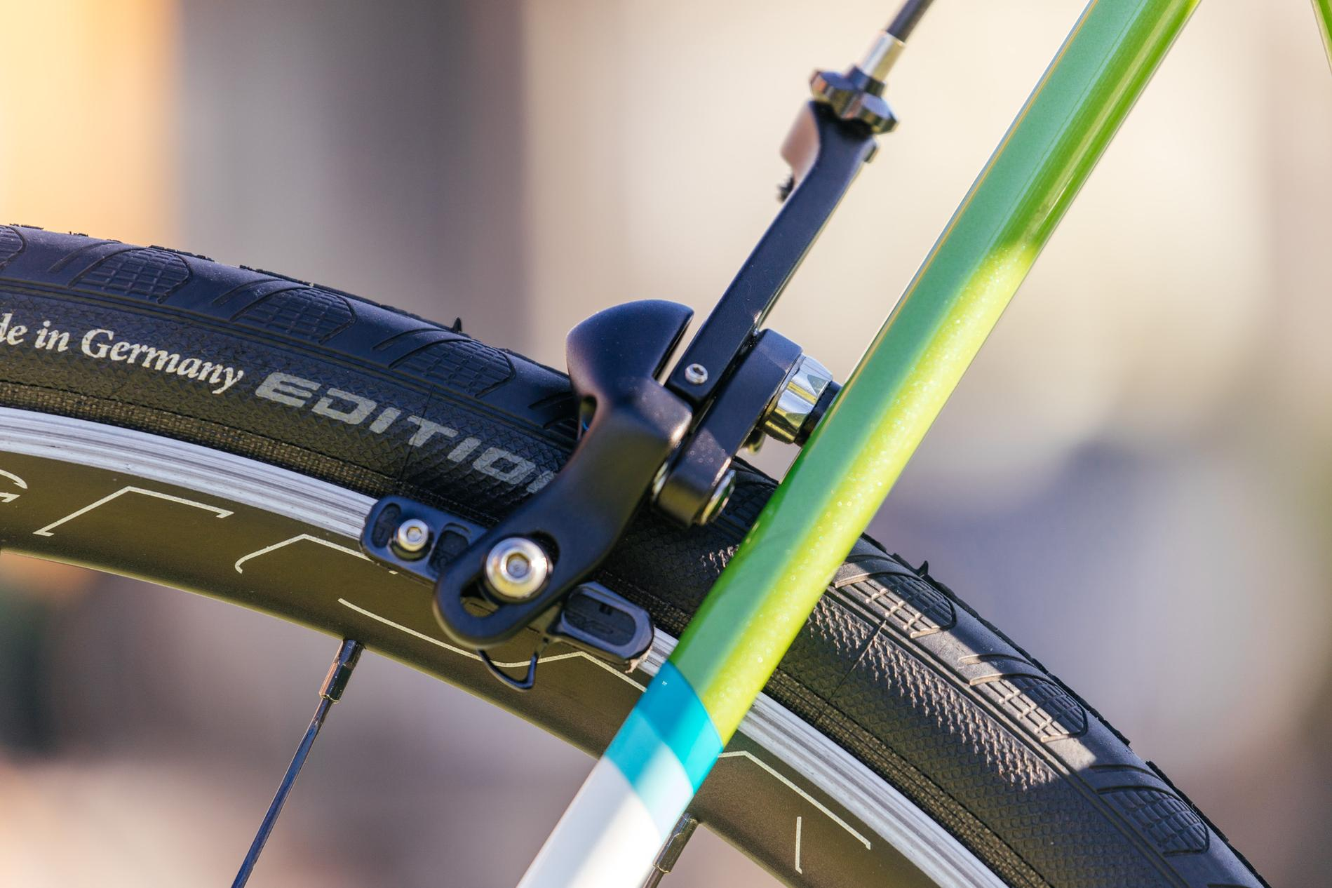 Mike's All-City Kiwi Green Mr. Pink with Campagnolo Chorus