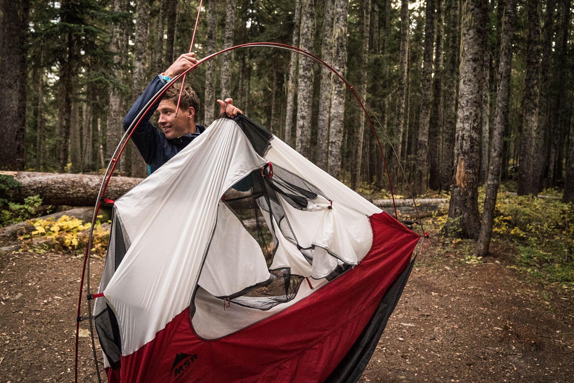 Greg's tent - Photo Dylan VanWeelden
