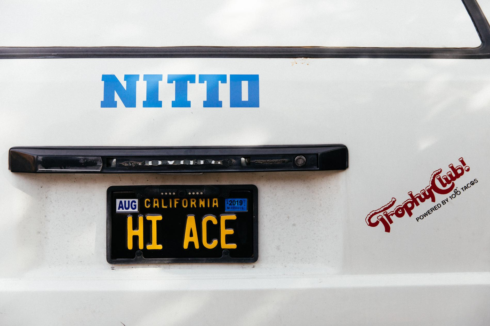 Best plates ever! This is Ace's Toyota Van, called the Hi Ace in Japan...