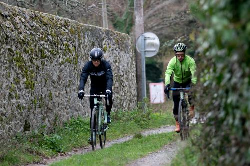 Drew and Max exploring the farm lanes and gritty allyways of Coastal Brittany.