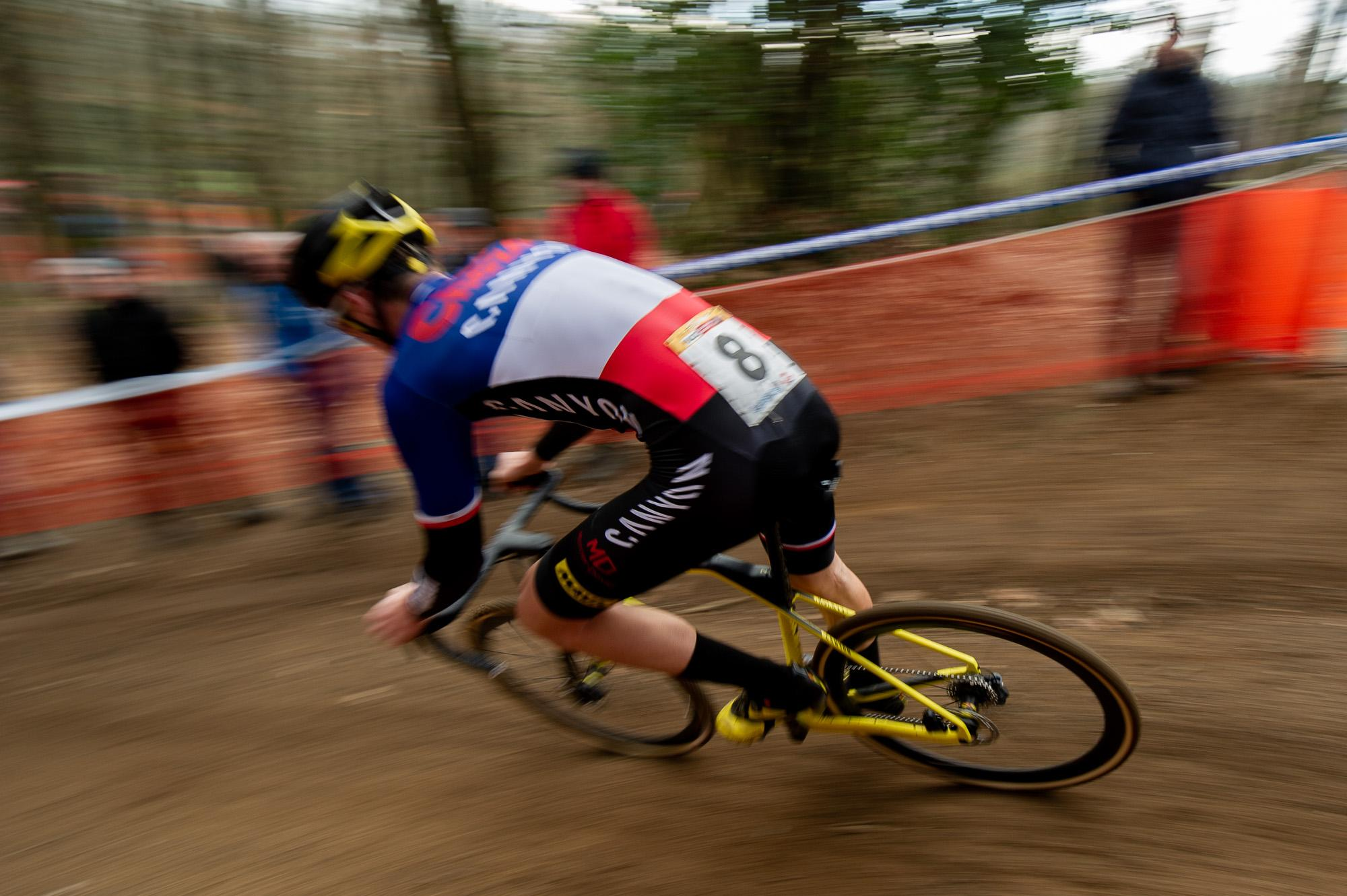 The loudest cheers of the entire race followed recently crowned French CX Champion Clement Venturini.