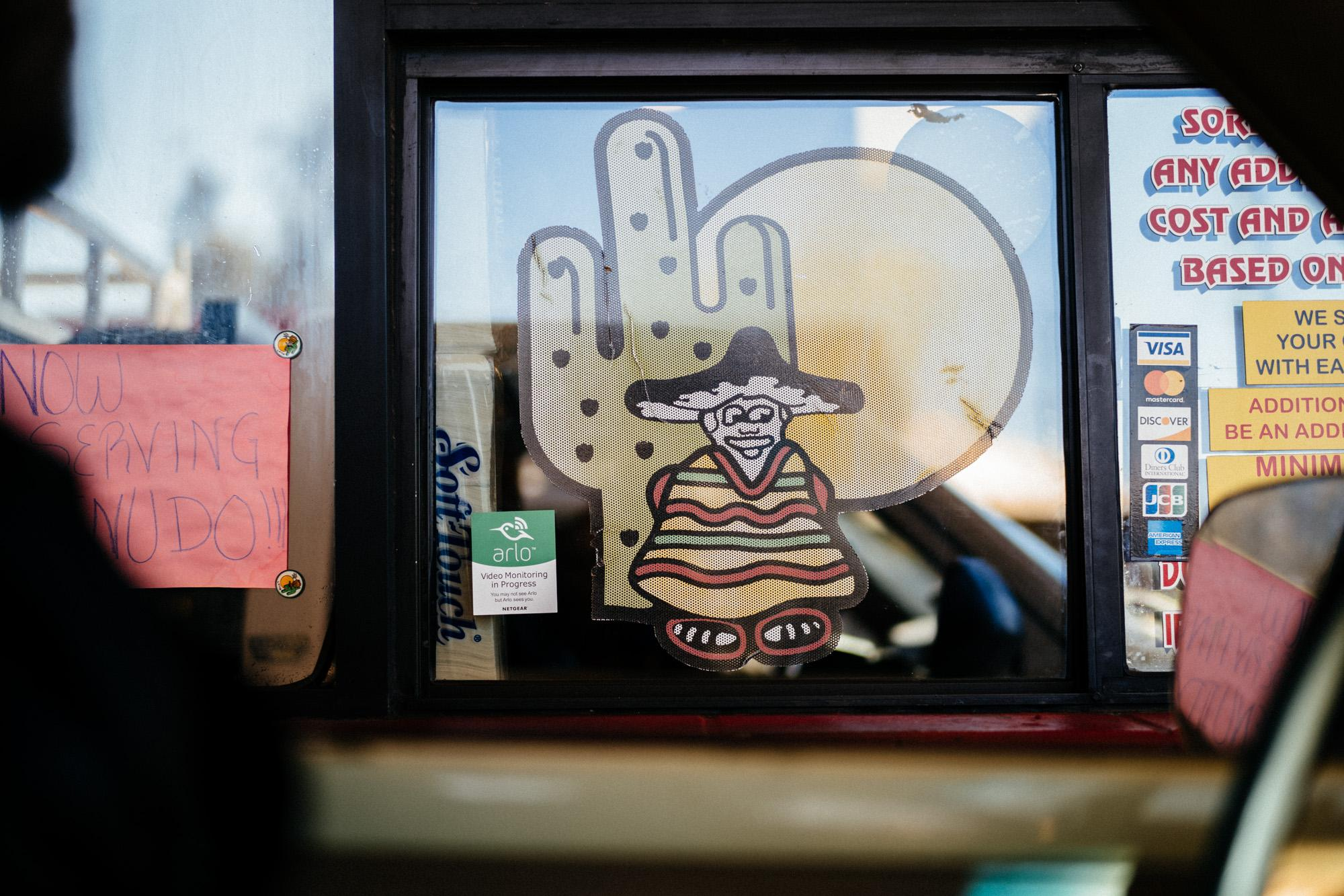 Random Taco Shop Drive Thru Window