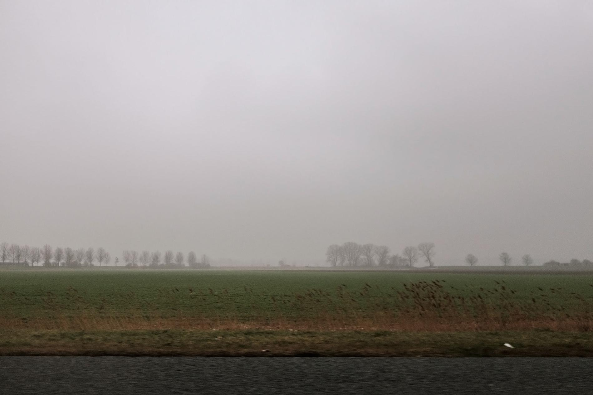 Dreary low country landscape in southern Holland.
