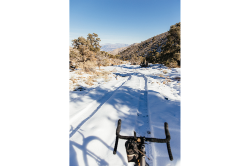 A snowy descent.
