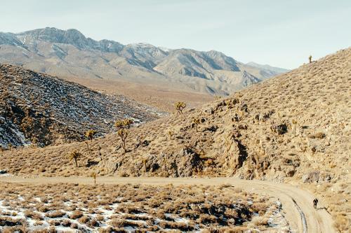 Up White Mountain Talc Road.