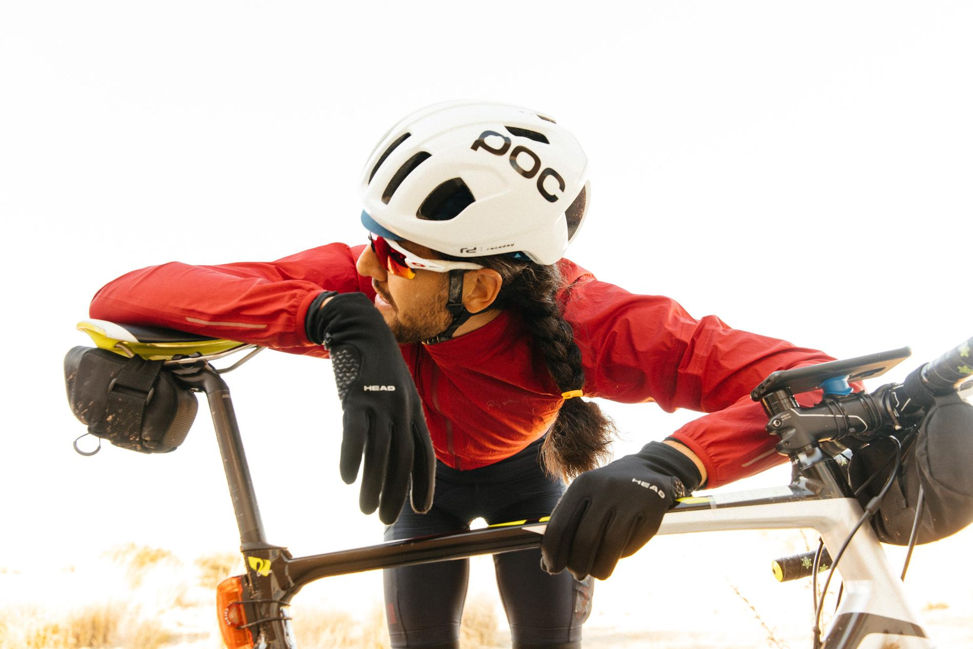 Post-race rider portraits