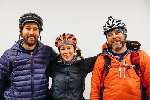 Post-race rider portraits