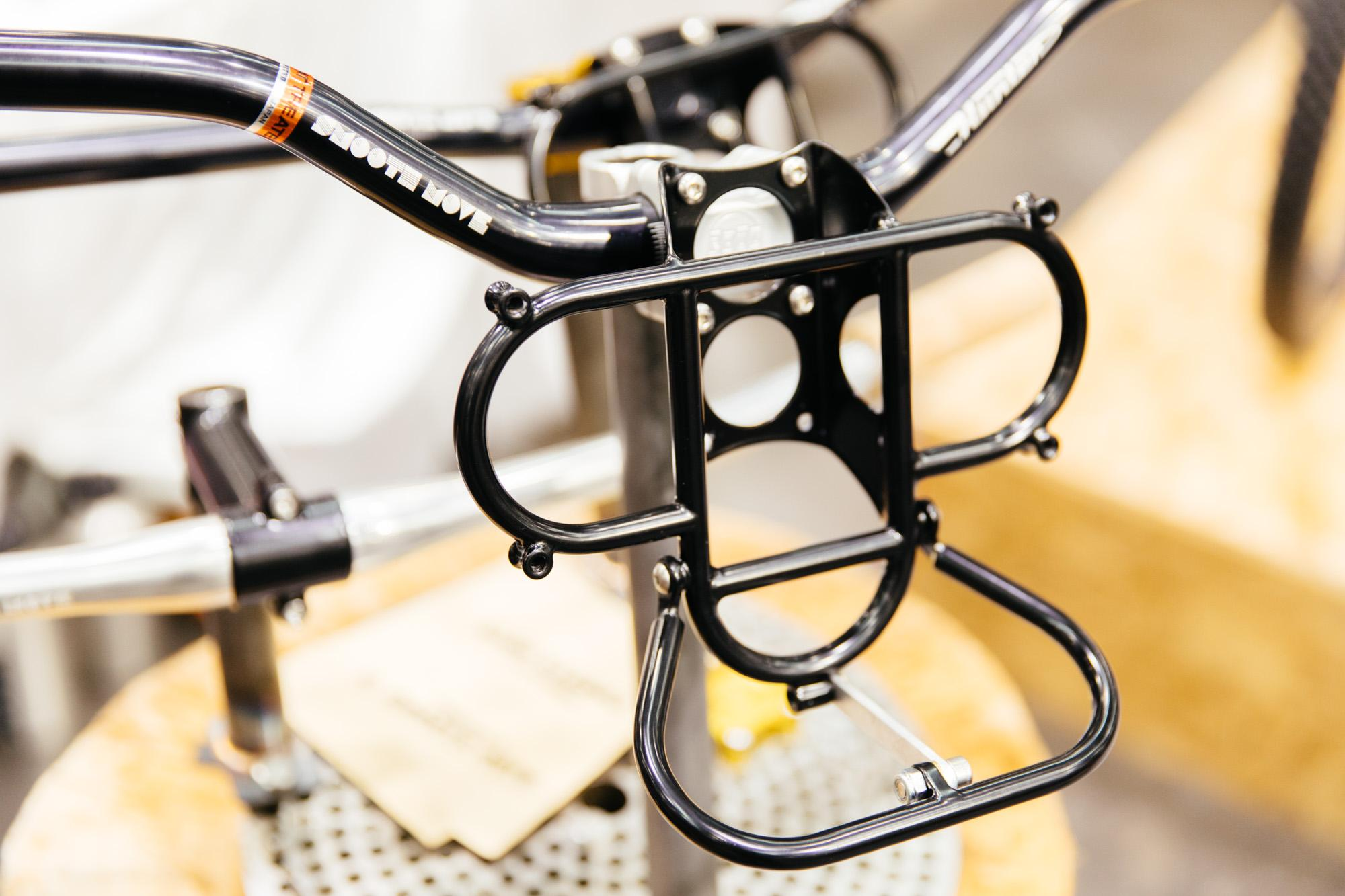 Hunter Cycles and Paul stem-mounted mini rack... the coolest thing at the show!