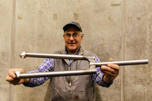 Steve Potts' new titanium all road fork.
