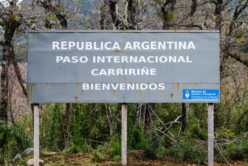 At the (closed for winter) Argentina/Chile border