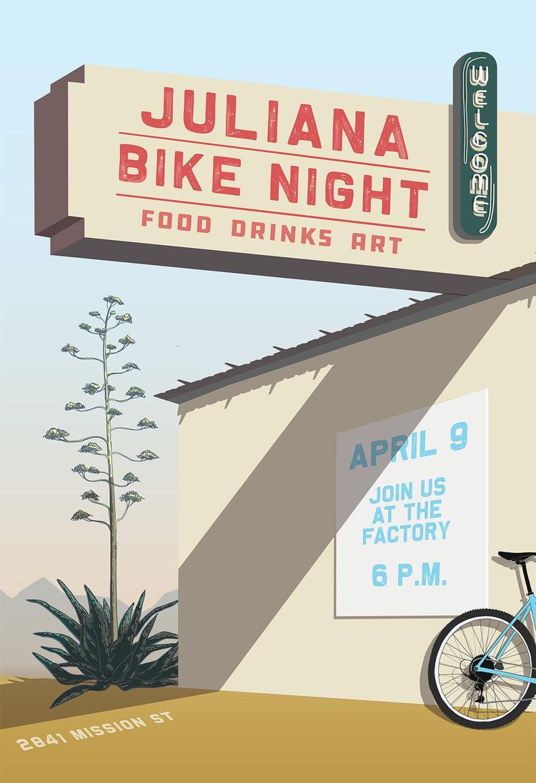 Come to Juliana Bicycles Bike Night in Santa Cruz Tonight!