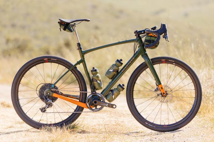 Sea Otter Classic 2019: OD Green Chapter2 AO with Fulcrum Rapid Red Wheels