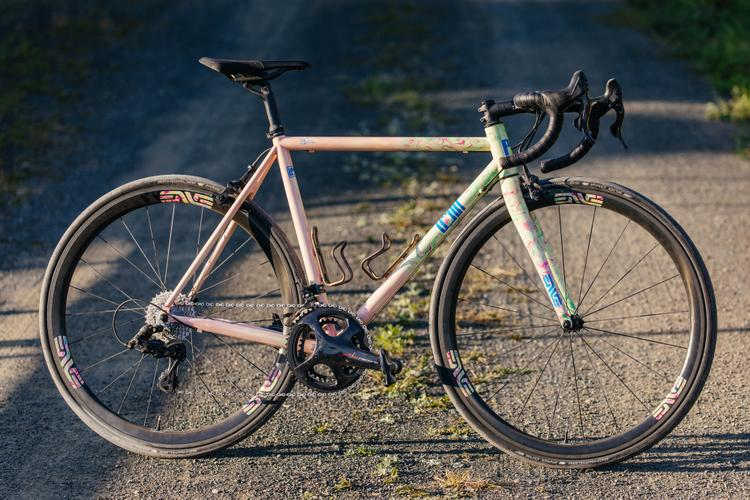 Legor Cicli in California: Tie Dye Road with Campagnolo Super Record 12