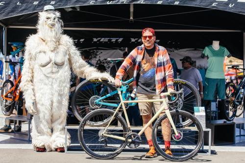 Richard Pool aka Bicycle Crumbs and a sweet custom disc road