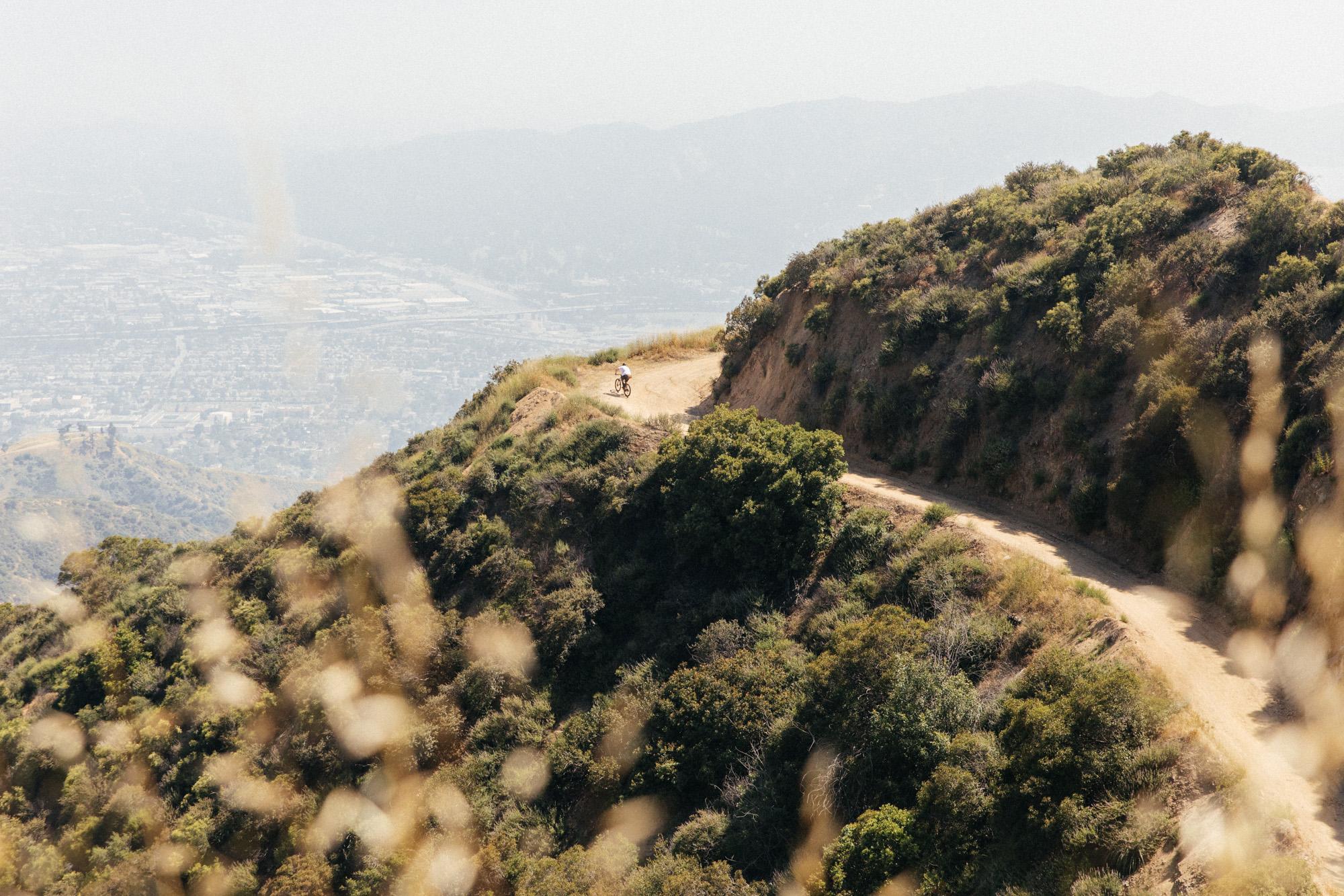 Climbing into the Verdugo Mountains in Glendale