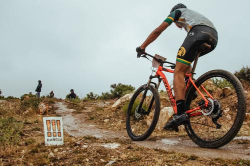There were a few well-marked rocky sections on the course which kept the racers focussed, especially during the rain.