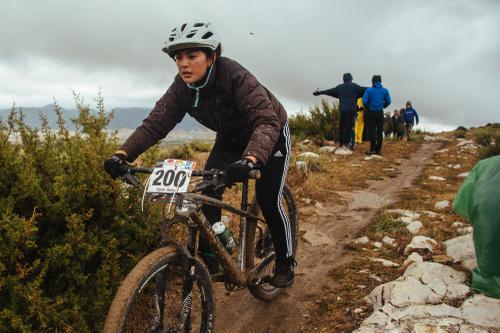 Open Girls racer Sofia Alcocer.