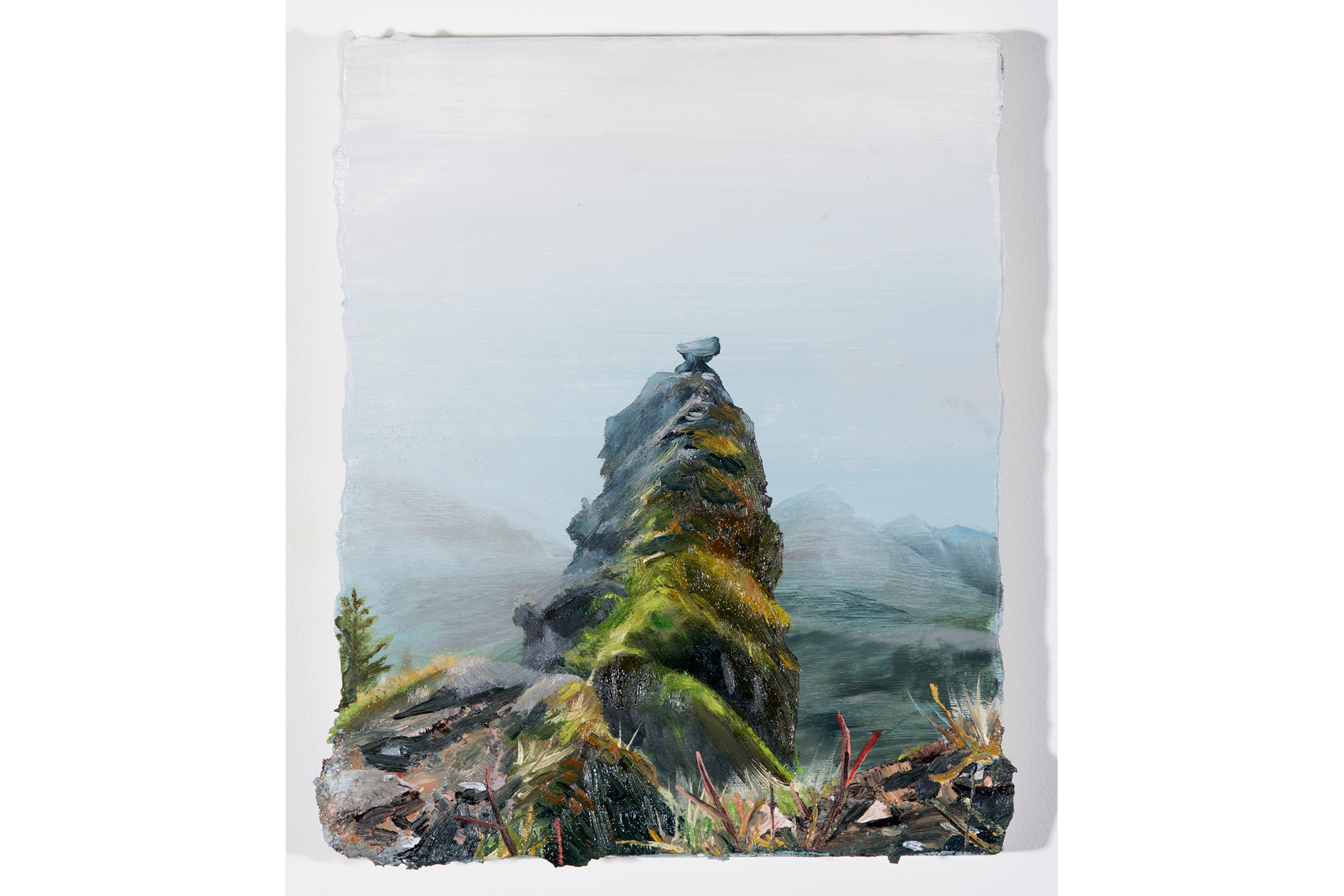 Thick Mist on Saddle Mountain 10 in X 8 in Oil on Canvas