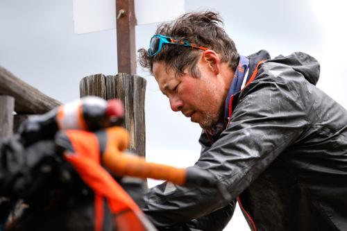 Josh Kato resupplying in Clark, Colorado. (Rugile Kaladyte)