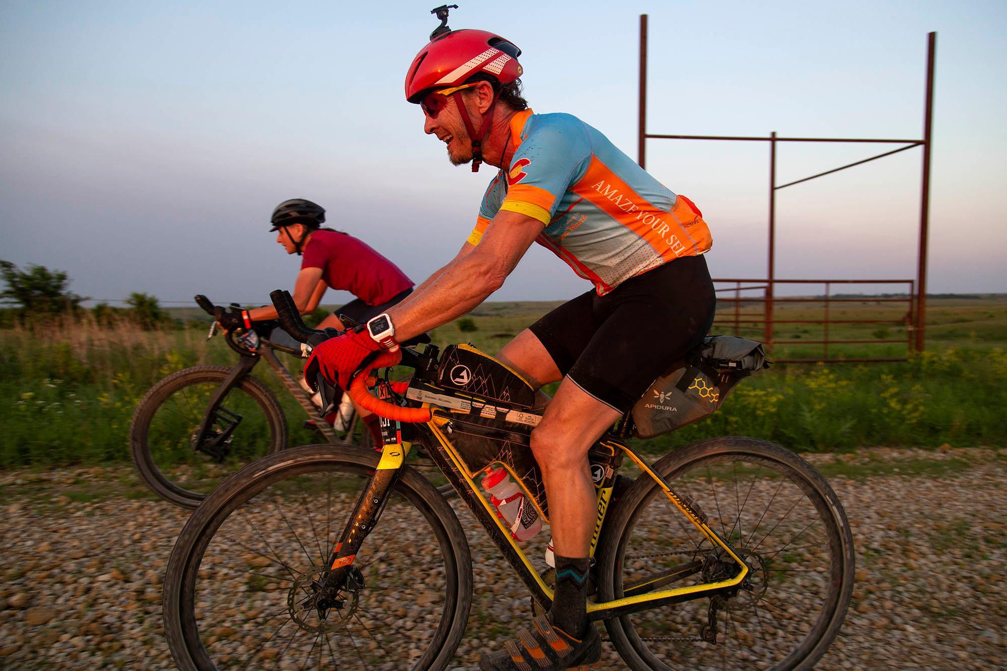 Lael rides with Morgan Murri in the DKXL 2019. (Rugile Kaladyte)