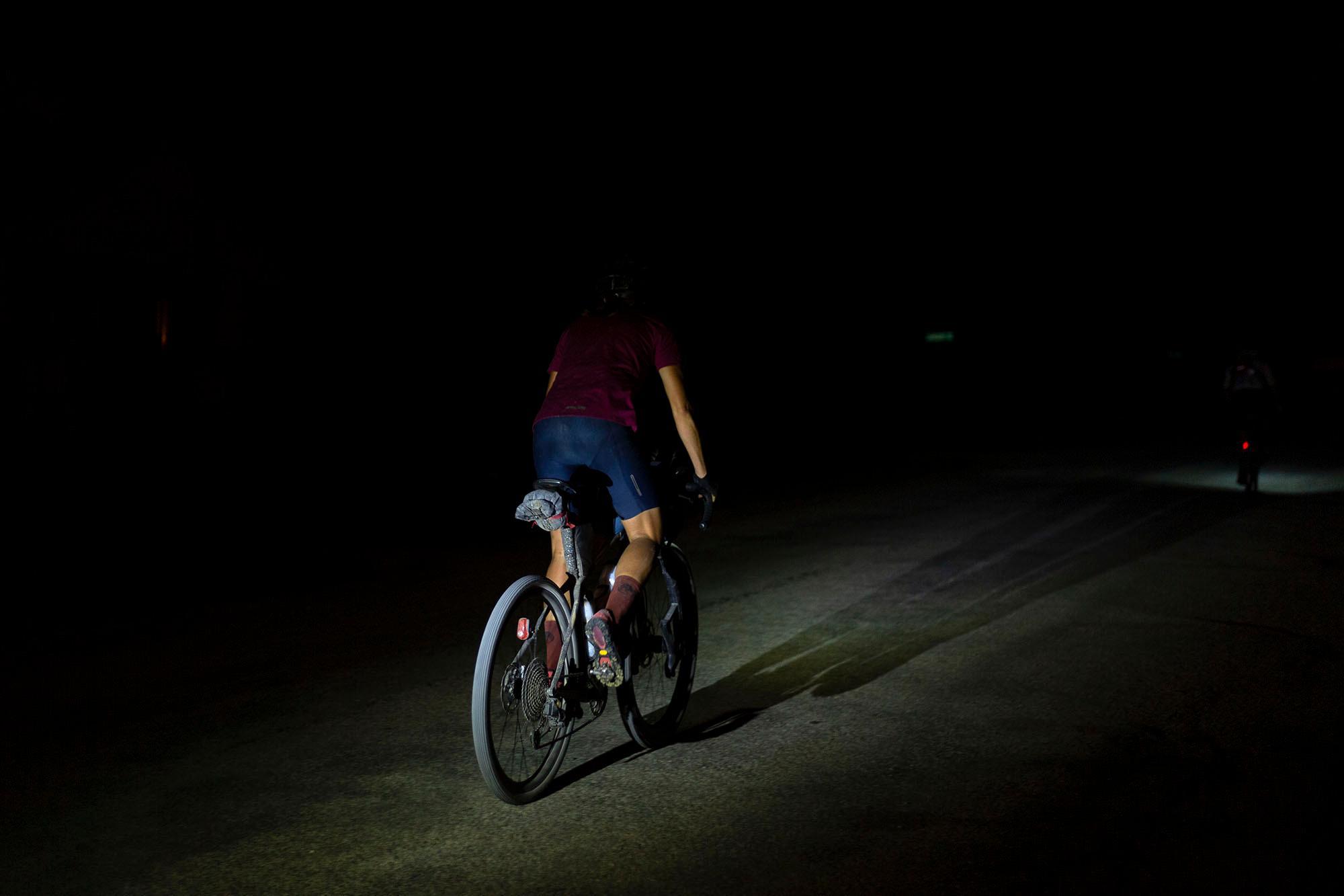 Riding the DKXL 2019 into the night. (Rugile Kaladyte)