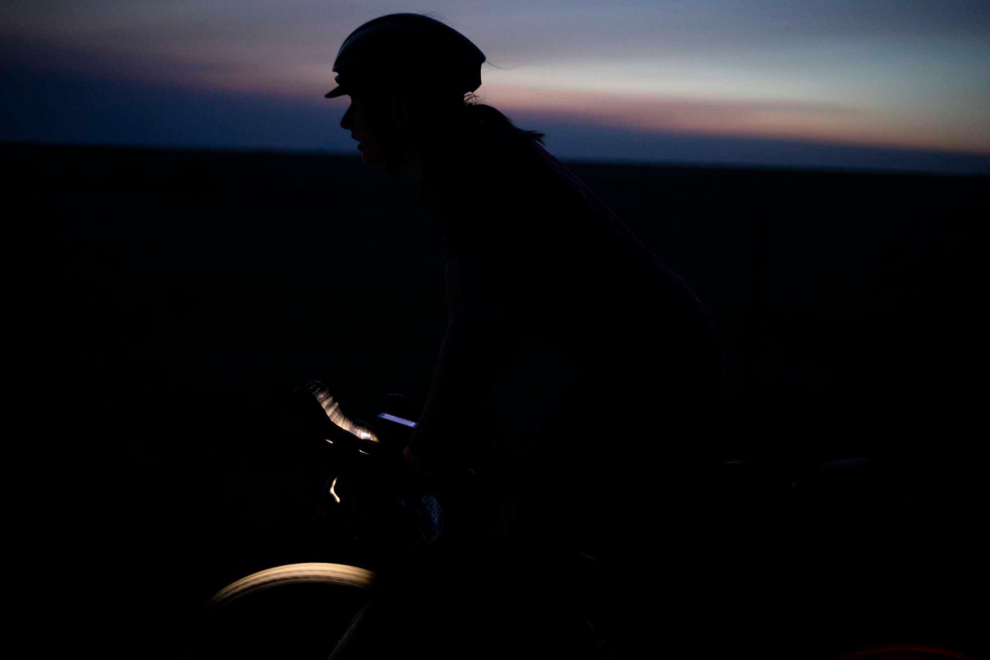Sunrise after riding for 15 hours in the DKXL 2019. (Rugile Kaladyte)