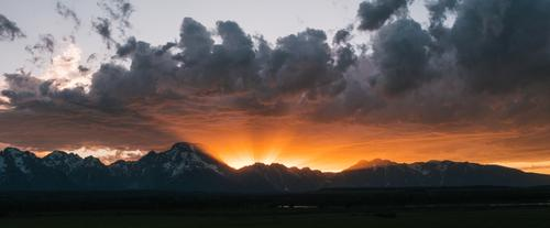 Sunset over the Tetons  (Spencer Harding)