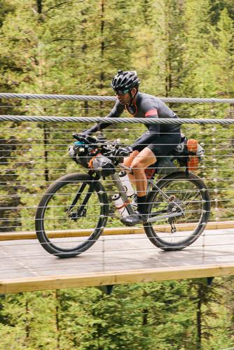 Crossing the suspension bridge (Spencer Harding)