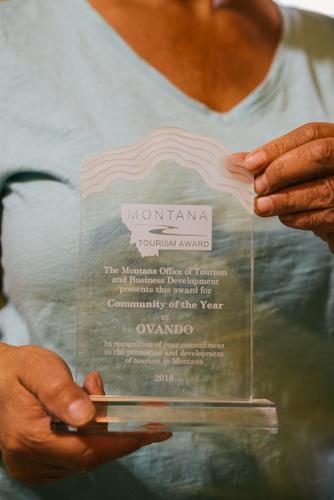 Ovando's tourism community of the year award (Spencer Harding)