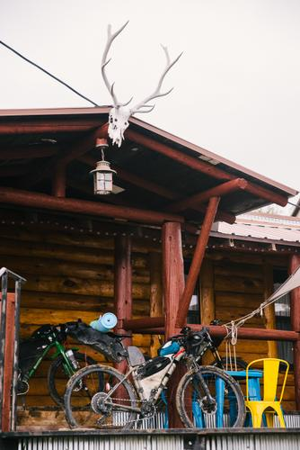 Lael's bike at Brush Mountain (Spencer Harding)