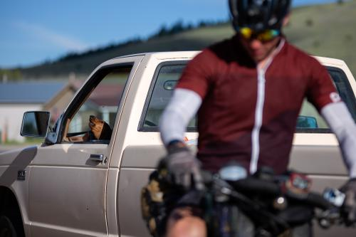 Lucas Ratliff resupplies in Wise River, Montana. (Rugile Kaladyte)