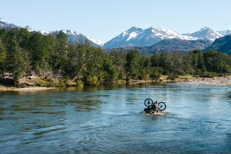 Fording the Río Pico